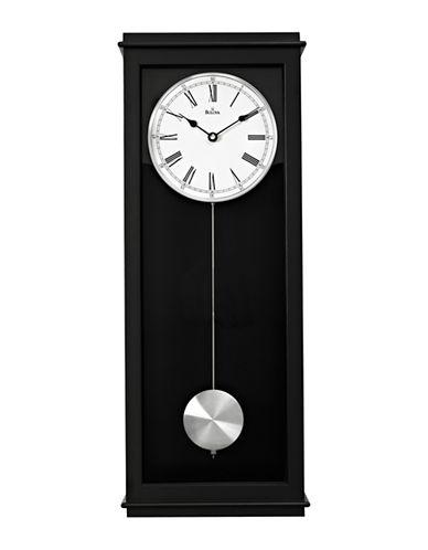 Bulova Wooden and Aluminum Pendulum Wall Clock-BLACK-One Size