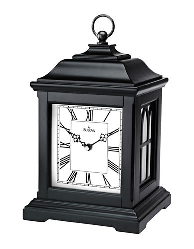 Bulova Lantern Table and Mantel Clock-BLACK-One Size