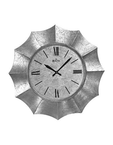 Bulova Nouveau Wall Clock-SILVER-One Size