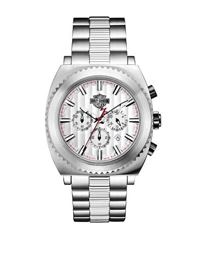 Harley Davidson Analog Gearhead Collection Stainless Steel Bracelet Watch-SILVER-One Size
