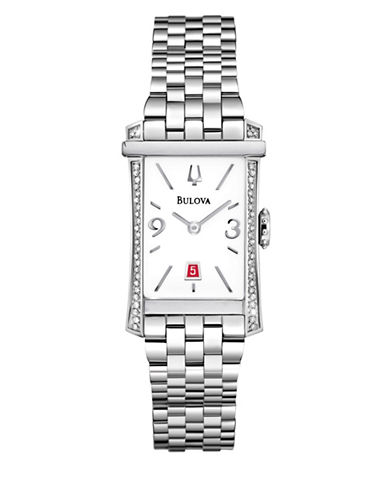 Bulova Analog Diamond Gallery Collection Stainless Steel Watch-SILVER-One Size