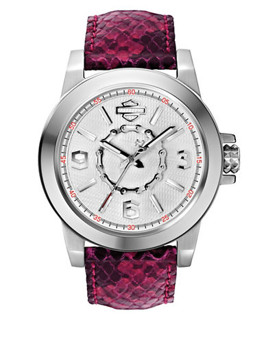 Harley Davidson The Boyfriend Stainless Steel Analog Watch-PINK-One Size