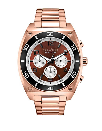 Caravelle New York The Sports Chrono Collection Chronograph Rose Goldtone Bracelet Watch-ROSE GOLD-One Size