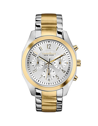 Caravelle New York The Sport Collection Two-Tone Chronograph Watch-SILVER/GOLD-One Size