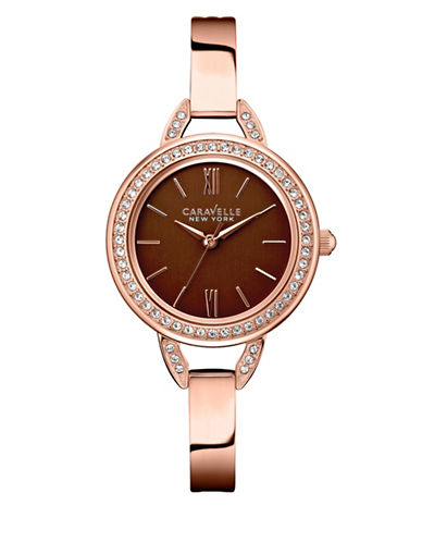 Caravelle New York Analog Rose Gold Collection Rose Goldtone Stainless Steel Watch-ROSE GOLD-One Size
