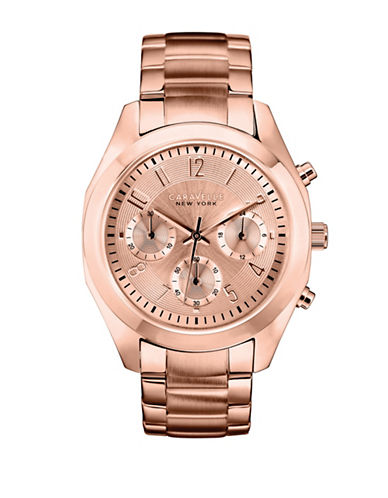 Caravelle New York Analog New York Rose-Goldtone Bracelet Watch-ROSE GOLD-One Size