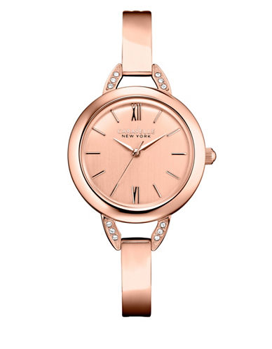 Caravelle New York Analog Rose Gold Collection Rose Goldtone Watch-ROSE GOLD-One Size