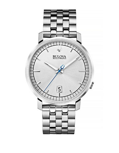 Bulova Accutron II Stainless Steel Link Bracelet Watch-SILVER-One Size