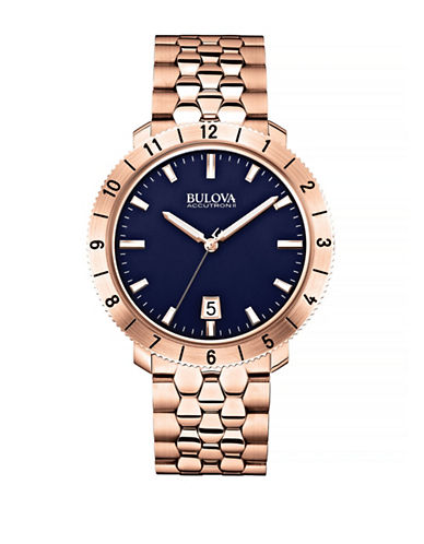 Bulova Accutron II Rose-Goldtone Stainless Steel Watch-ROSE GOLD-One Size