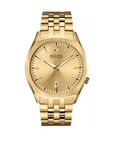 Bulova Accutron II Goldtone Stainless Steel Watch-GOLD-One Size
