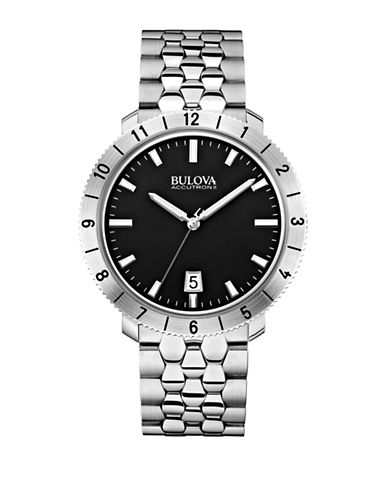 Bulova Accutron II Stainless Steel Watch-SILVER-One Size
