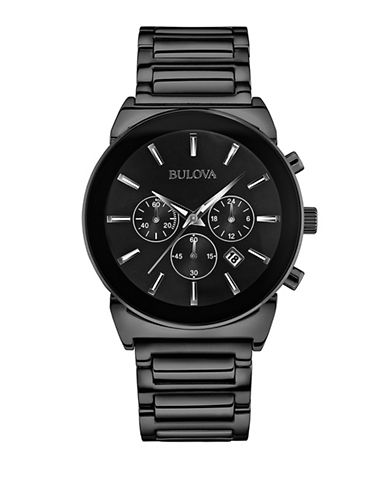 Bulova Mens Classic Collection Standard 98B215-BLACK-One Size