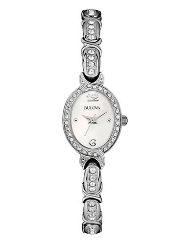 Bulova Womens Crystal Collection Petite 96L199-WHITE-One Size