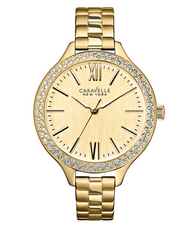 Caravelle New York Analog Nautical Collection Goldtone Stainless Steel Watch-GOLD-One Size