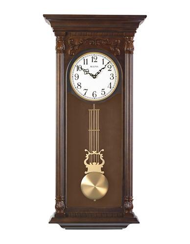 Bulova Norwood II Pendulum Hardwood Clock-WALNUT-One Size