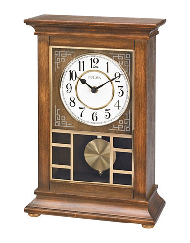 Bulova Stratford Mantel Clock-WALNUT-One Size
