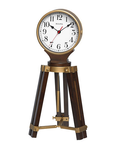 Bulova Rowayton Wood Brass Tripod Pendulum Clock-BRASS-One Size