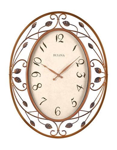 Bulova Oval Filigree Wall Clock-BRONZE-One Size