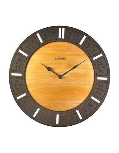 Bulova Engraved Round Wall Clock-CHERRY-One Size