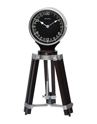 Bulova Tripod Clock-BLACK-One Size