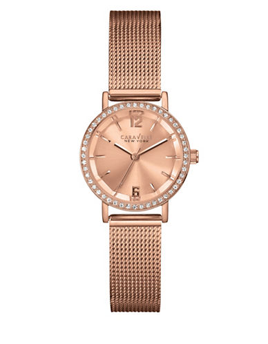 Caravelle New York Analog Perfectly Petite Collection Rose Goldtone Stainless Steel Watch-ROSE GOLD-One Size