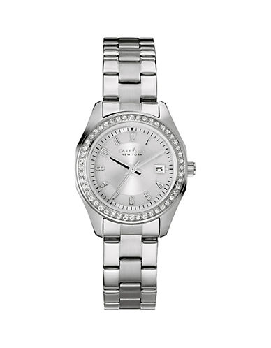 Caravelle New York Analog Perfectly Petite Collection Stainless Steel Watch-SILVER-One Size
