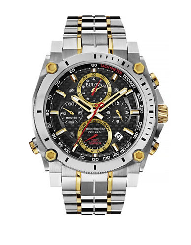 Bulova Precisionist Stainless Steel Chronograph Watch-TWO TONE-One Size
