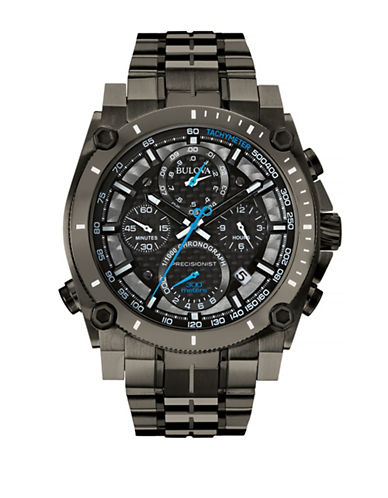Bulova Mens Precisionist Collection Oversized 98B229-BLACK-One Size