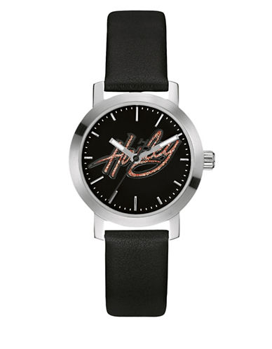 Harley Davidson The Decal Stainless Steel Analog Watch-BLACK-One Size