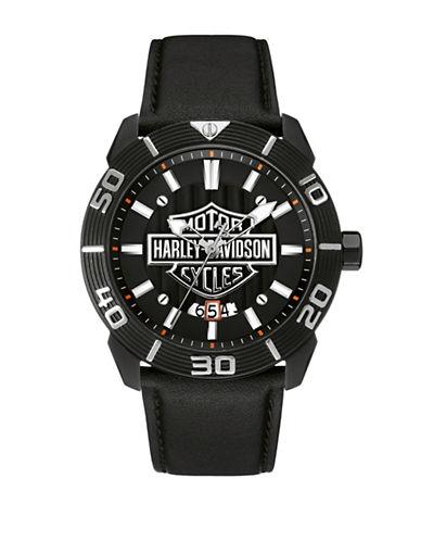 Harley Davidson Analog Raised Brake Level Collection Watch-BLACK-One Size