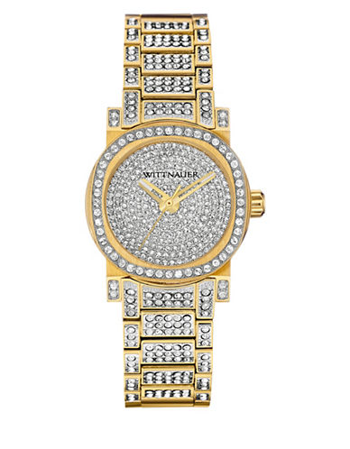Wittnauer Adele Analog Mini Pave Goldtone Watch-GOLD-One Size