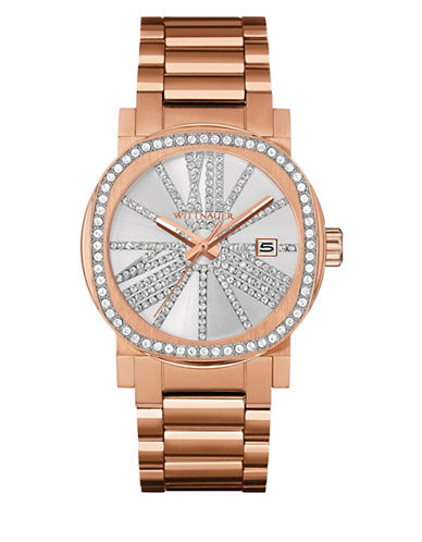 Wittnauer Adele Analog Pave Rose Goldtone Watch-ROSE GOLD-One Size