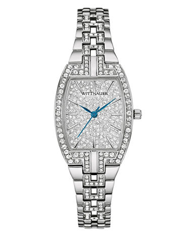 Wittnauer Sophie Analog Crystal Pave Silvertone Watch-SILVER-One Size