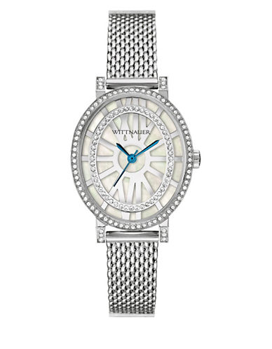 Wittnauer Charlotte Analog Oval Silvertone Watch-SILVER-One Size