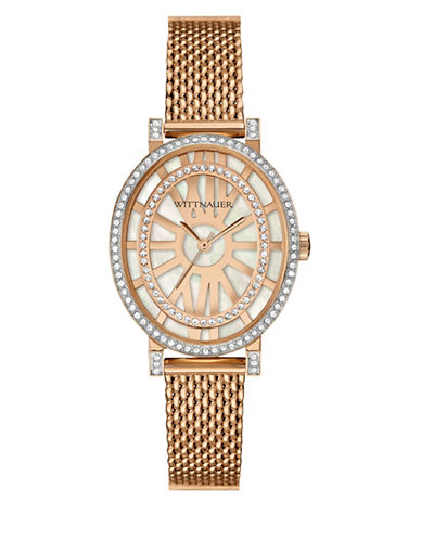 Wittnauer Charlotte Analog Oval Rose-Goldtone Bracelet Watch-ROSE GOLD-One Size