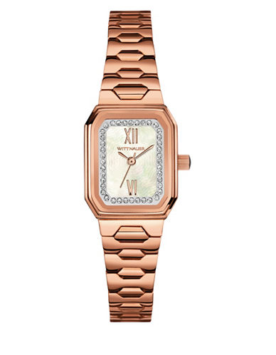 Wittnauer Analog Pavé Octagon Rose Goldtone Watch-ROSE GOLD-One Size