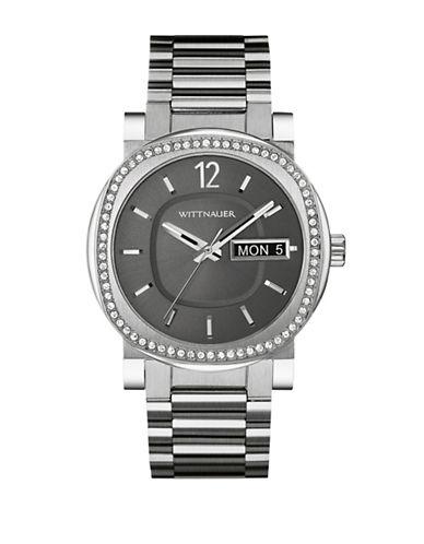 Wittnauer Aiden Analog Silvertone Watch-SILVER-One Size