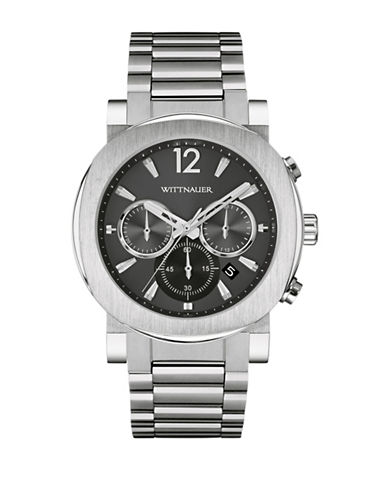 Wittnauer Aiden Chronograph Silvertone Watch-SILVER-One Size