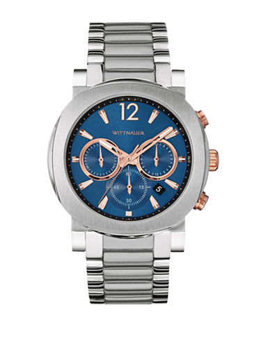Wittnauer Aiden Chronograph Two-Tone Watch-SILVER-One Size