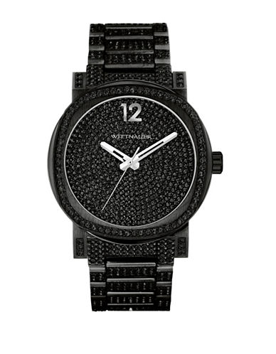Wittnauer Aiden Analog Full Pave Black Watch-BLACK-One Size