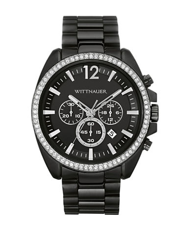 Wittnauer Lucas Chronograph Black Watch-BLACK-One Size