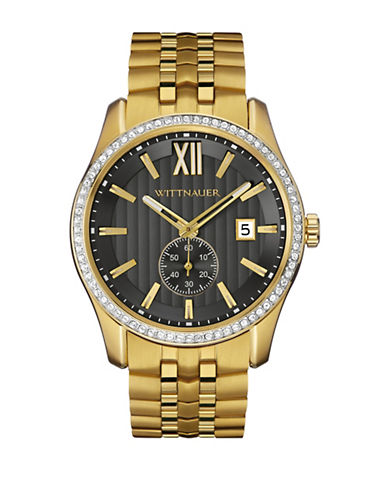 Wittnauer Michael Analog Goldtone Watch-GOLD-One Size
