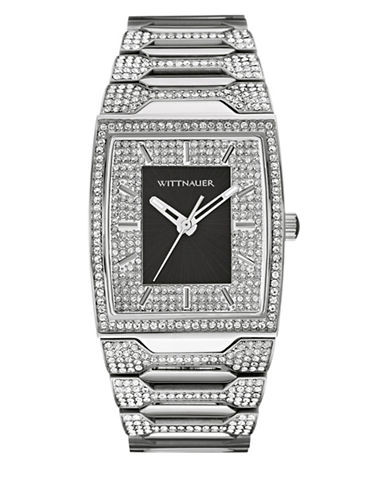 Wittnauer Enrique Analog Full Pave Two-Tone Watch-SILVER-One Size
