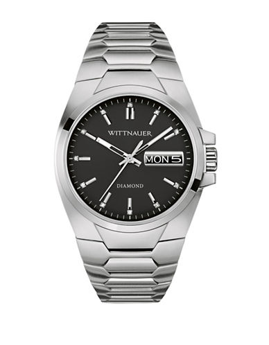 Wittnauer Analog BRODY Stainless Steel Bracelet Watch-SILVER-One Size