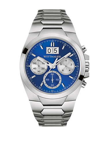 Wittnauer Contrast Chronograph BRODY Stainless Steel Bracelet Watch-SILVER-One Size