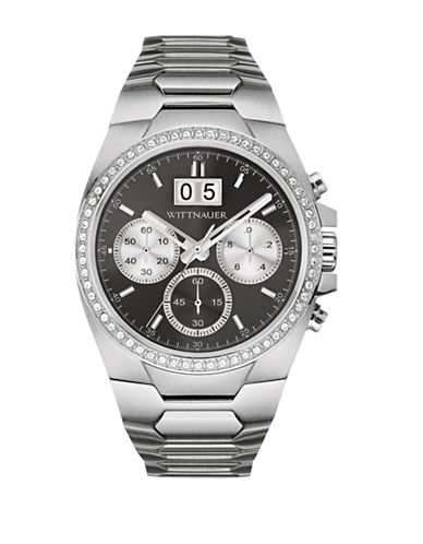 Wittnauer Chronograph BRODY Two-Tone Stainless Steel Bracelet Watch-SILVER-One Size