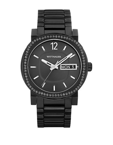 Wittnauer Analog AIDEN Gunmetal-Tone Stainless Steel Bracelet Watch-GUNMETAL-One Size