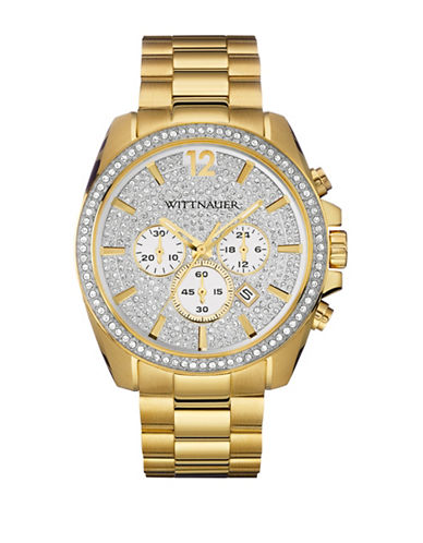 Wittnauer Chronograph LUCAS Goldtone Bracelet Watch-GOLD-One Size