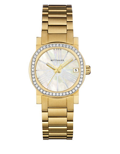 Wittnauer Adele Analog Pave Goldtone Watch-GOLD-One Size