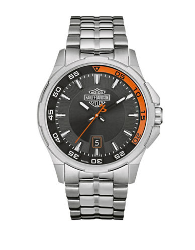 Harley Davidson The Dashboard Stainless Steel Analog Watch-SILVER-One Size